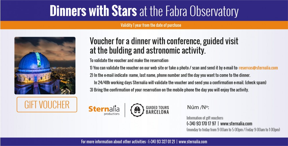 DINNER WITH STARS at the Fabra Observatori