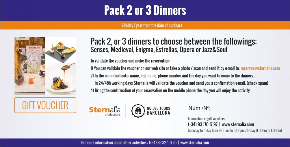 PACK 2 or 3 Dinners