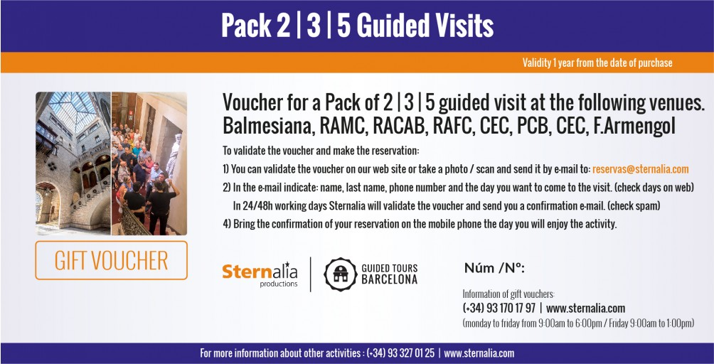 PACK 2, 3 or 5 Day Guided Visits