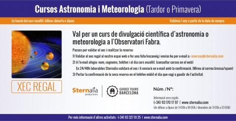Xec regal Cursos a l'Observatori Fabra