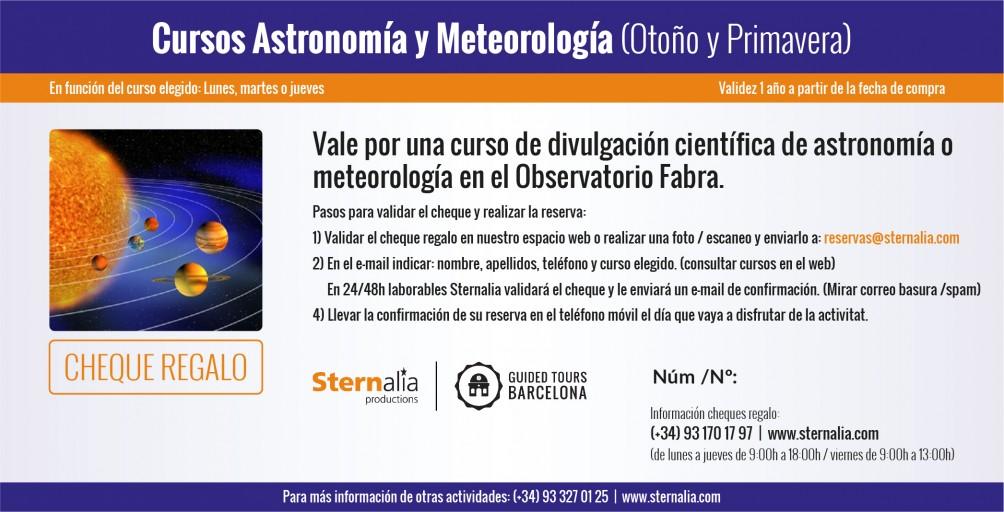 CURSOS en el Observatorio Fabra