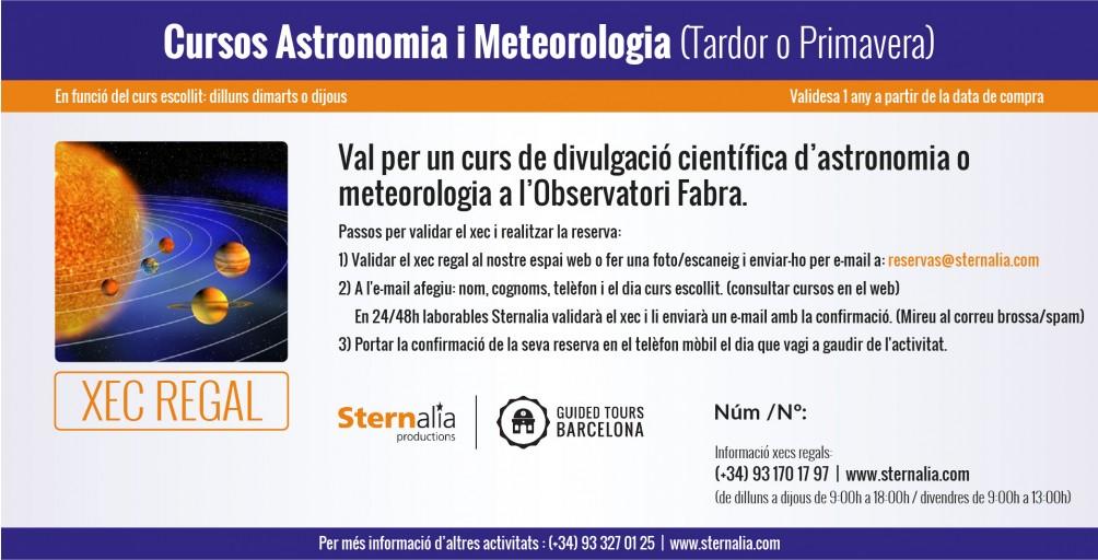 CURSOS a l'Observatori Fabra