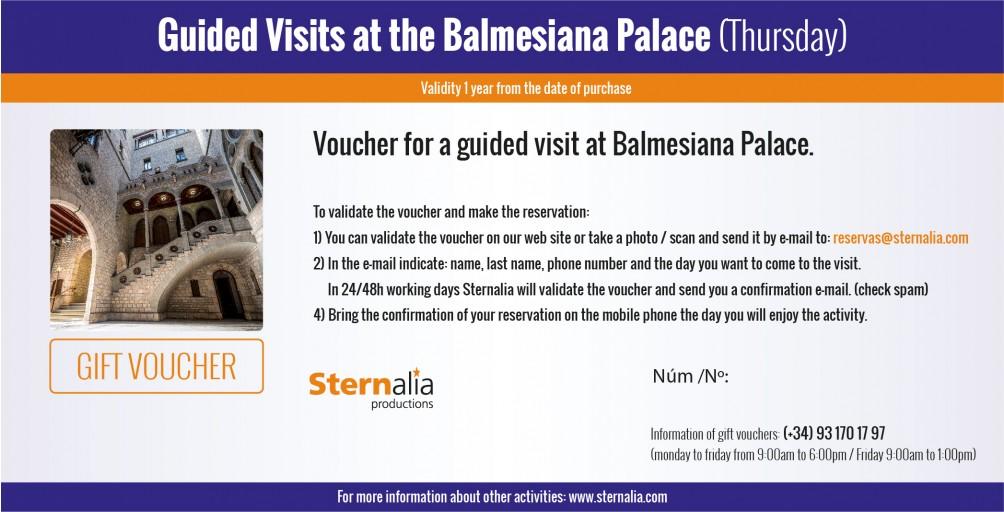 GUIDED VISITS at the Balmesiana's Palace