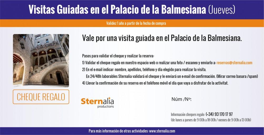 VISITAS GUIADAS en el Palacio de la Balmesiana