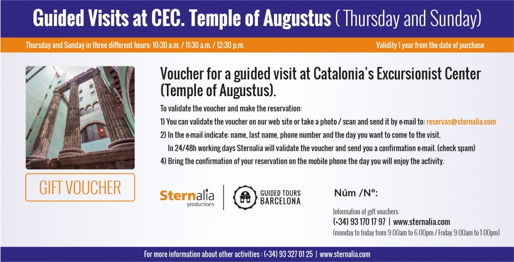 GUIDED VISITS at CEC (Temple of Augustus)
