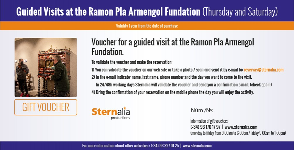 GUIDED VISIT Ramón Pla Armengol Fundation