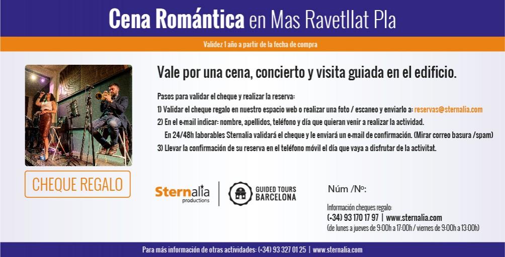 CENA ROMANTIC JAZZ, Mas Ravetllat Pla