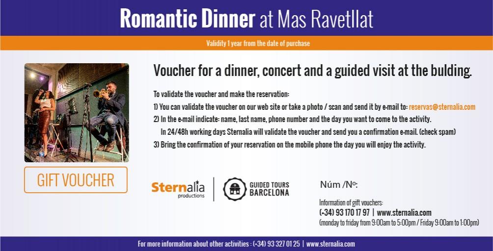 ROMANTIC JAZZ DINNER, Mas Ravetllat Pla