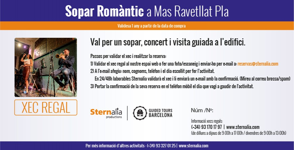 SOPAR ROMANTIC JAZZ, Mas Ravetllat Pla
