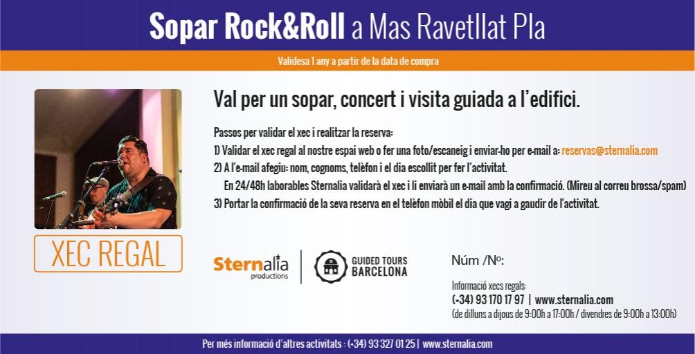 Sopar Rock & Roll, Mas Ravetllat Pla