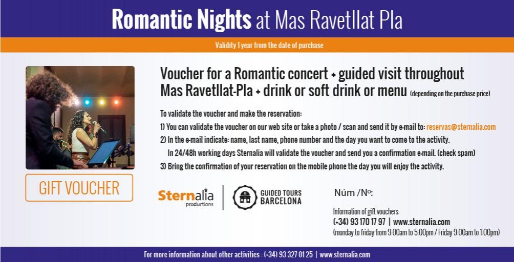 ROMANTIC NIGHTS, Mas Ravetllat Pla
