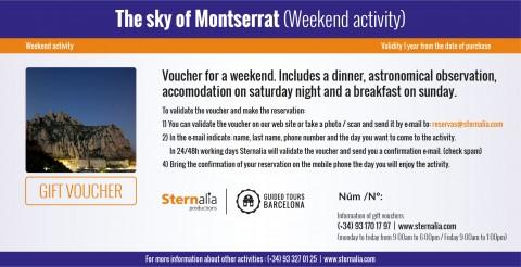 The sky of Montserrat