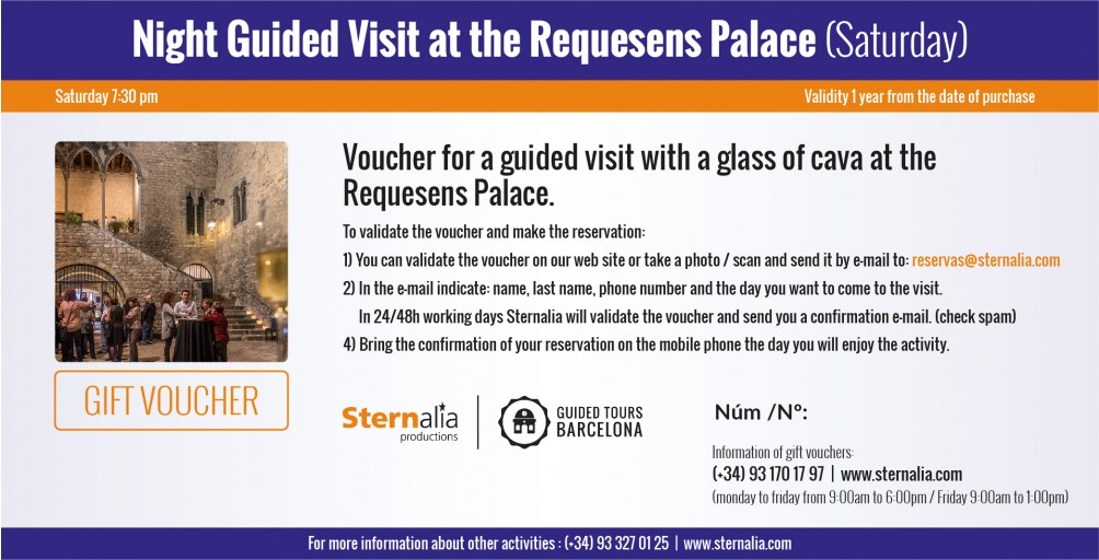 NIGHT GUIDED VISIT at the Requesens Palace (saturday)